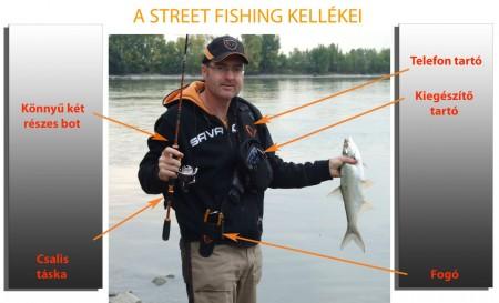 A Street Fishing kellékei