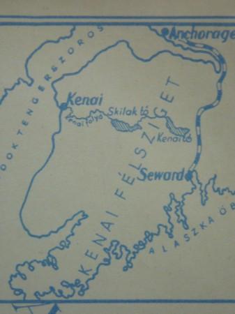 Alaszkában vadásztam - Az első kiadás belső fedőoldal térképe - 1937
