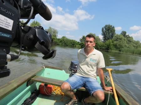 A stáb csónak az élő Tisza felé vette az irányt