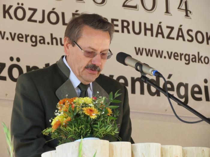 A megnyitón beszédet mondott Pap Gyula, a Veszprém Megyei Vadászkamara elnöke