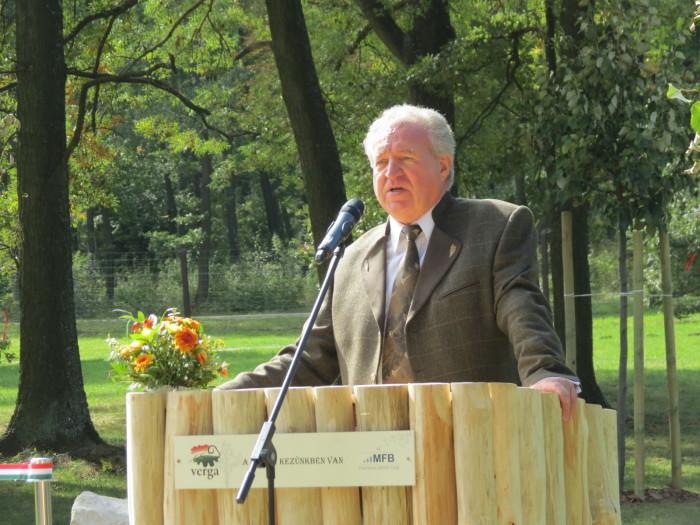 Majd Pechtol János, az Országos Magyar Vadászkamara főtitkára, a Magyar Vadászati Védegylet ügyvezető elnöke osztotta meg gondolatait a hallgatósággal