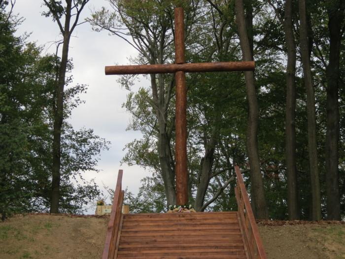 A felújított Nádasdy arborétumban a nemzet összetartozását jelképező, fenyőfából ácsolt 8 méteres Magyarság Keresztjét avatták fel
