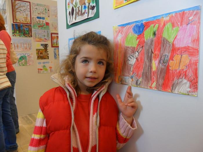 A gyermekrajz verseny egyik díjnyertes alkotója és munkája: az óvodás Grám Lili Nóra (4 és fél éves)